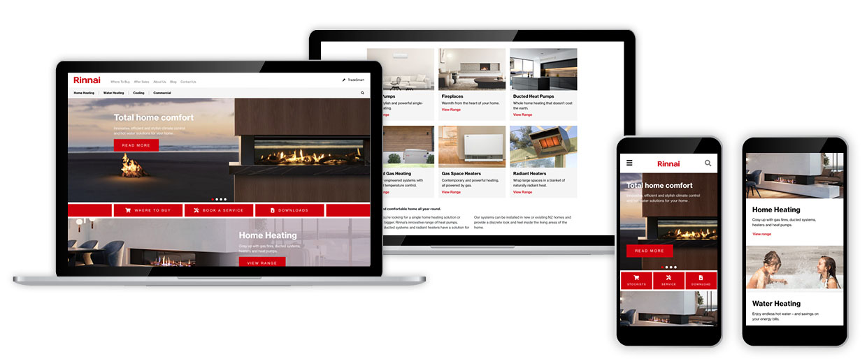 New Rinnai Website